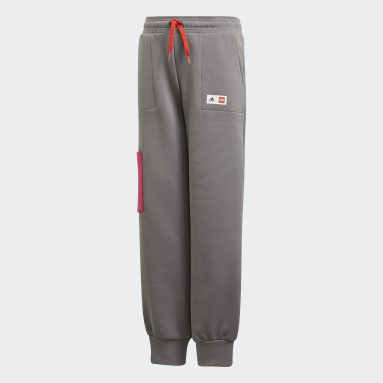 Pantalon adidas x Classic LEGO® Cuffed Gris Filles Fitness Et Training
