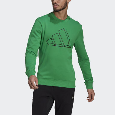 Men Sportswear Green adidas Sportswear Graphic Crew Sweatshirt