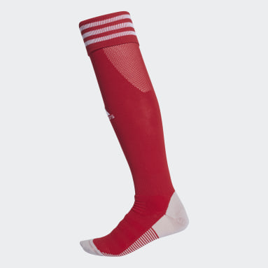 Chaussettes montantes AdiSocks rouge Soccer