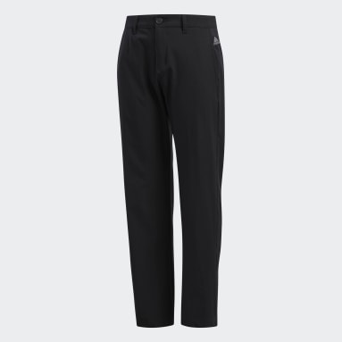 Boys Golf Black Solid Pants
