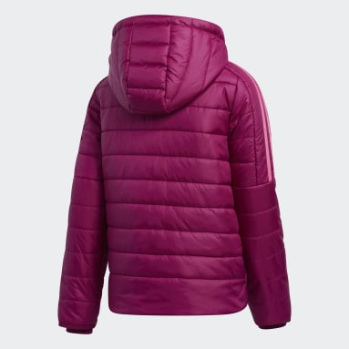 Girls Training Burgundy Classic Puffer Jacket