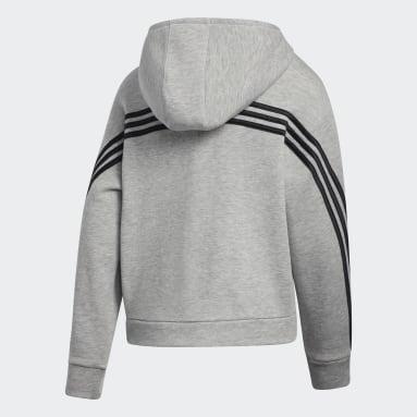 Children Training Grey Stripe Hoodie
