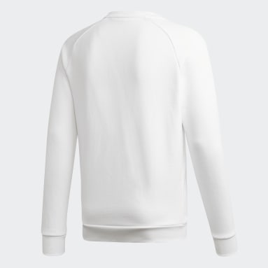 Sweat-shirt LOUNGEWEAR Trefoil Essentials Crewneck Blanc Hommes Originals
