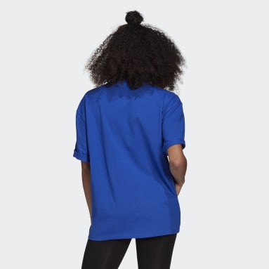 Women Originals Blue LOUNGEWEAR Adicolor Essentials Tee