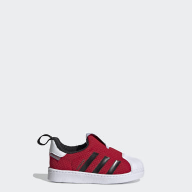 Infants Originals Red Superstar 360 Shoes