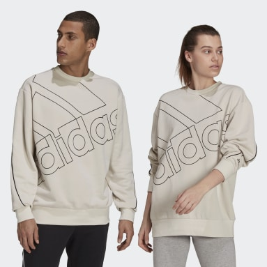 Essentials Beige Giant Logo Sweatshirt (Gender Neutral)