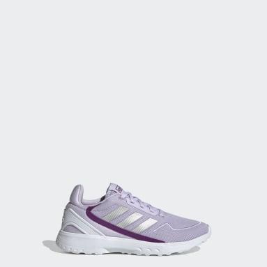 Kids Running Purple Nebula Ted Shoes