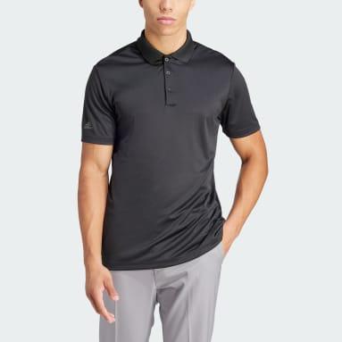 Heren Golf Zwart Performance Primegreen Poloshirt
