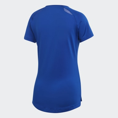 Women's Volleyball Blue Hi Lo Jersey