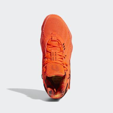 оранжевый Баскетбольные кроссовки Dame 7 Fire Inside