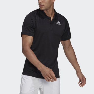 Men's Tennis Black Tennis Freelift Polo Shirt