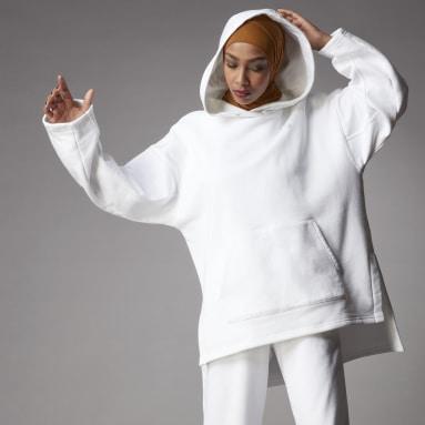 Dames Originals wit Adicolor Fleece Hoodie