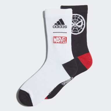 Children Training Black Marvel Spider-Man Socks