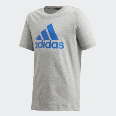 Camiseta Must Haves Badge of Sport Cinza Meninos Estilo Esportivo
