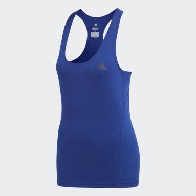 Playera Alphaskin Sport Tank Azul Mujer Training