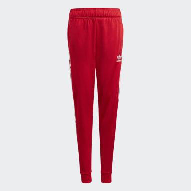 Barn Originals Röd Adicolor SST Track Pants