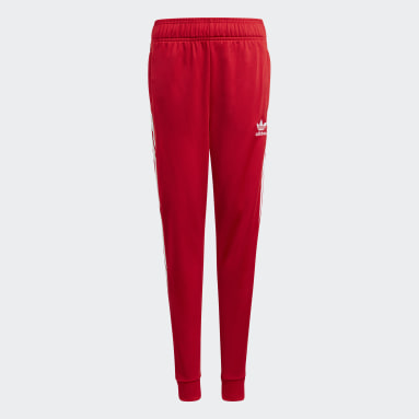 Youth 8-16 Years Originals Red Adicolor SST Tracksuit Bottoms
