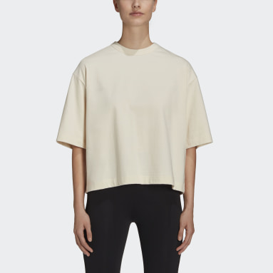 Women's Y-3 Beige Y-3 CH3 Raw Jersey Graphic Short Sleeve Floral Tee