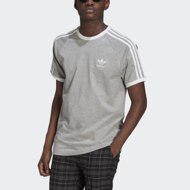 Men's Originals Grey Adicolor Classics 3-Stripes Tee