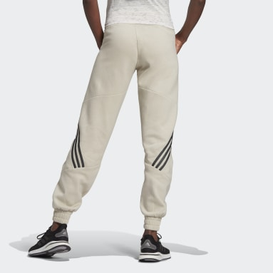 Women Sportswear Beige Sweat Pants