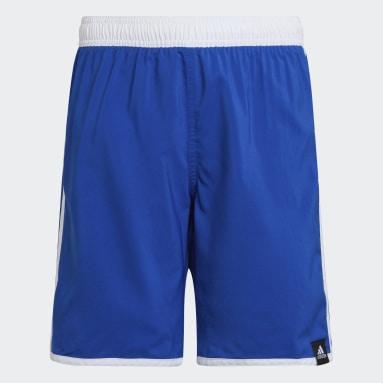Kluci Plavání modrá Plavecké šortky 3-Stripes