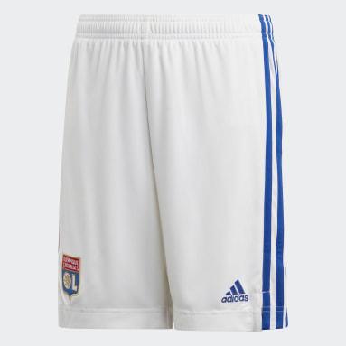 Pantalón corto primera equipación Olympique de Lyon Blanco Niño Fútbol