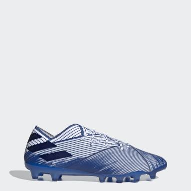 Women Football White Nemeziz 19.1 Artificial Grass Boots