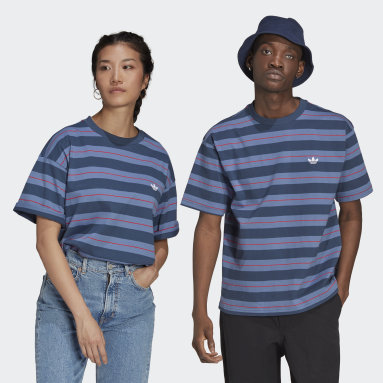 Originals Blue Yarn-Dyed Tee (Gender Neutral)
