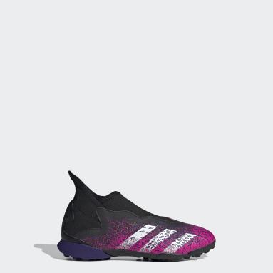 Barn Fotboll Svart Predator Freak.3 Laceless Turf Boots