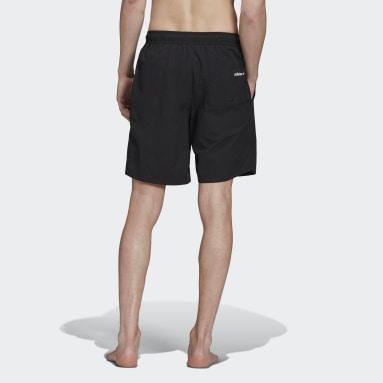 Men Originals Black Adicolor Shattered Trefoil Swim Shorts