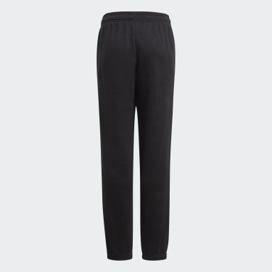 Youth Training Black Essentials French Terry Pants