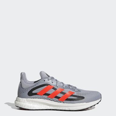Men Running Grey SolarGlide 4 Shoes
