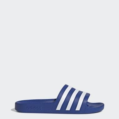 Women Sportswear Blue Adilette Aqua Slides