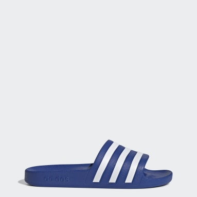 Frauen Sportswear Aqua Adilette Blau