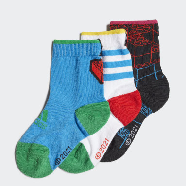 เด็ก เทรนนิง สีดำ ถุงเท้า adidas x Classic LEGO® (3 คู่)