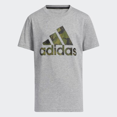 Youth Training Grey Action Camo Badge of Sport Heather Tee