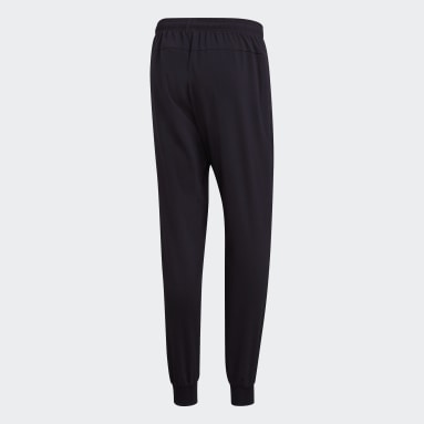 Men Lifestyle Black Essentials Plain Tapered Stanford Pants