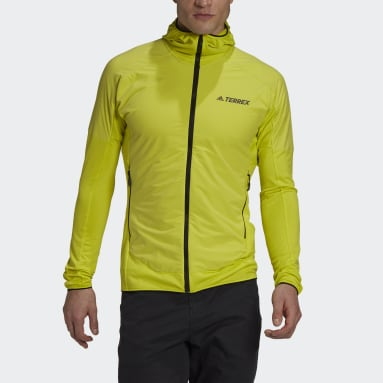 Men TERREX Yellow Terrex Skyclimb Fleece Jacket