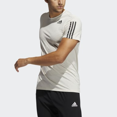Primeblue AEROREADY 3-Stripes Slim Tee Beżowy