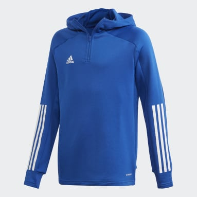 Youth 8-16 Years Football Blue Condivo 20 Hooded Track Top