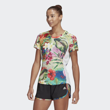 Dames Hardlopen Blauw Own The Run Floral T-shirt