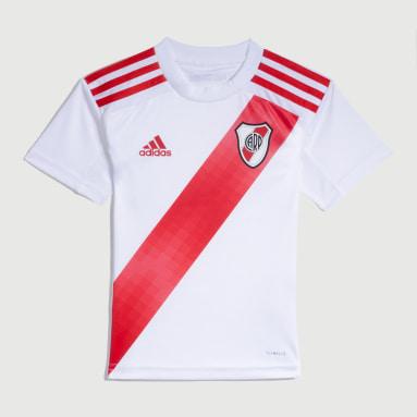 Minikit Uniforme Titular River Plate (UNISEX) Blanco Niño Fútbol