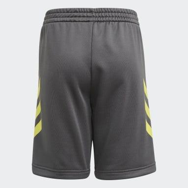 เด็กผู้ชาย เทรนนิง สีเทา กางเกงขาสั้น XFG AEROREADY Primeblue