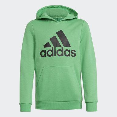 Youth Training Green adidas Essentials Hoodie