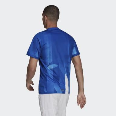 Men's Tennis Blue Freelift Tokyo HEAT.RDY Printed Tennis Tee