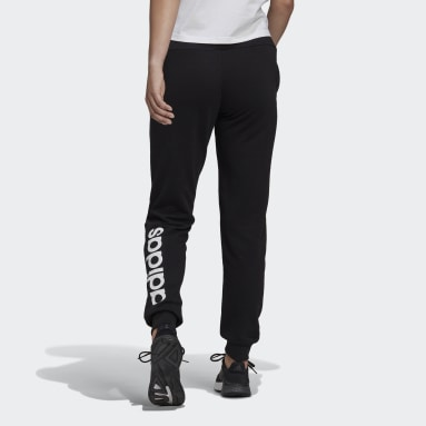 Pantalon Essentials French Terry Logo Noir Femmes Sportswear