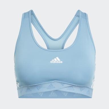 Women Training Blue Mesh Bra