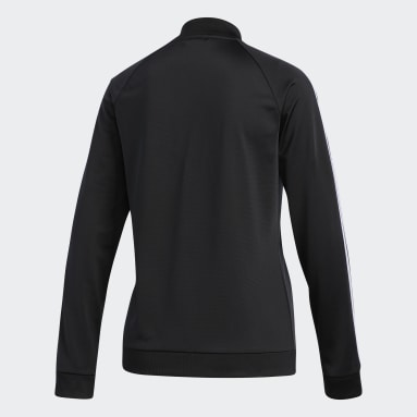 Women Sport Inspired Black Dazzle Track Jacket