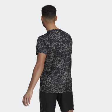T-shirt Fast Primeblue Graphic Gris Hommes Running