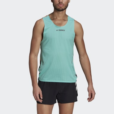 Men TERREX Green Terrex Parley Agravic Trail Running Tank Top
